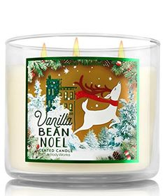 Bath and Body Works - Bougie 3 mèches Vanilla Bean Noel Bath and Body Works