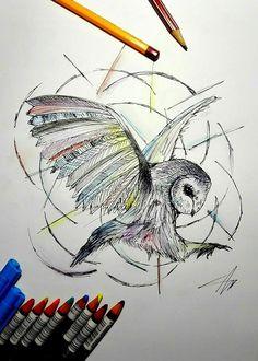 András Szurma- Owl / Bagoly Sketch
