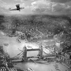 This aerial photograph of London was taken in the early 1920s by Alfred G Buckham, a remarkable photographer and pilot. Amazing!