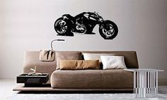 Wall Mural Vinyl Decal Sticker Motorcycle Bike Sport Racing Crotch Rocket AL862