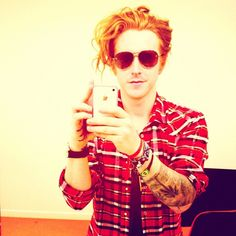 Travis Clark, We the Kings. My FAVORITE redhead ever! well....there are a few contenders...