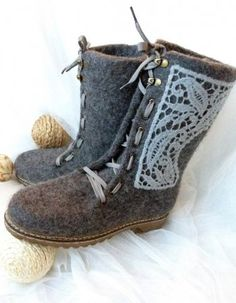 Felted women's boots $160