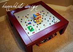 awesome idea for a homemade lego table!!!