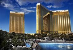 If you are headed to Vegas and absolutely MUST bring your kids, Mandalay Bay offers a fairly family-friendly environment.