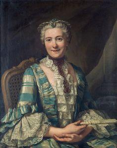 Portrait of a Noblewoman – Donat Nonotte 1760 Historical Costume, Historical Clothing, Historical Dress, Mode Rococo, Rococo Fashion, Renaissance Fashion, Baroque, 18th Century Fashion, 19th Century