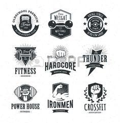 Set of retro styled fitness emblems Vintage gym icon templates Vector… Retro Fitness, Fitness Logo, Gym Icon, Gyms Near Me, Gym Logo, Retro Gym, Fitness Design, Retro Logos, Gym Humor