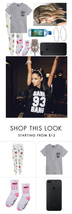 """""""Studio With Ariana Grande Recording A Single"""" by glitterbelle11 ❤ liked on Polyvore featuring New Look, Hype Means Nothing and Lauren Ralph Lauren"""