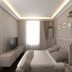 ideas for bedroom small rooms headboards Modern Bedroom Design, Master Bedroom Design, Bed Design, Home Bedroom, Bedroom Decor, Modern Design, Bedroom Furniture, Bad Room Design, Furniture Makeover