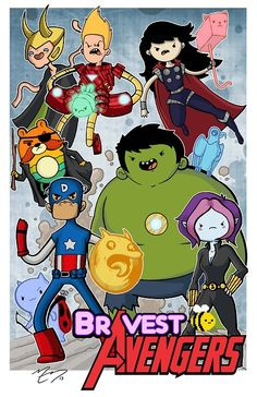 Adventure Time Bravest Warriors and Avengers Mash Up | Mike goes geek