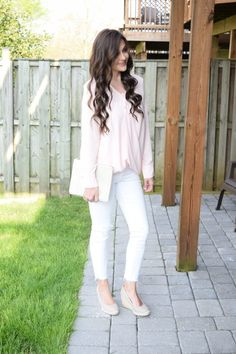 Blush Blouse + On Mondays We Link-Up & a Giveaway! - Trendy & Tidy
