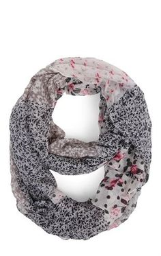 Deb Shops #Floral Patchwork Floral Infinity #Scarf