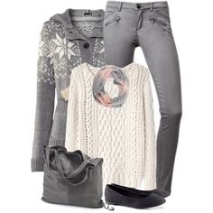 """Gray Jeans"" by daiscat on Polyvore"