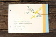 Art Deco Love Birds Wedding Invitations. $5.00, via Etsy.