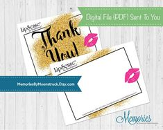 LipSense Glitter Thank You Card image 2 Jumpstart your Independent Distributor Business at LipSense with these fun and stand-out from the crowd thank you cards! These thank you cards have the glitter Thank You Card Images, Thank You Notes, Thank You Cards, Fall Pregnancy Announcement, Marketing Materials, Photo Book, Your Cards, Coloring Books, Photo Gifts