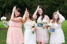 land shark, ole miss, hotty toddy, bridesmaids, bride // Jeanne Phinney Photography // blush pink and gold wedding inspiration