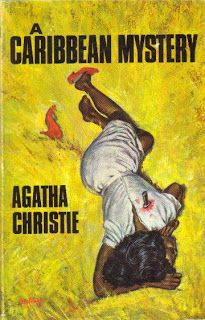 A Caribbean Mystery by Agatha Christie 1964. Vintage British Golden Age crime fiction paperback cover.