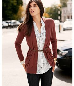 Absolutely adorable cardigan + shirt.