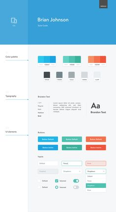 30 Great Examples of Brand and Style Guides Web Style Guide, Brand Style Guide, Style Guides, Web Ui Design, Page Design, Conception D'interface, Design Guidelines, Brand Guidelines, Brand Manual