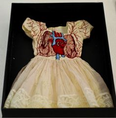 Looking for the perfect Christening Outfit? Laura Munday – Embroidery Lungs and Heart Dress.--- I'm kind of in love with this