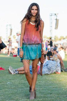 The Best Street Style From Coachella  - ELLE.com (Dress by Junim LA)