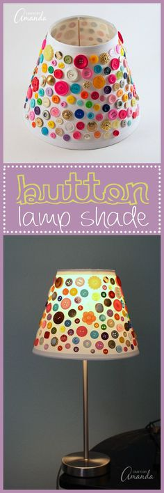 This cute button lamp shade is a great craft for all ages you don