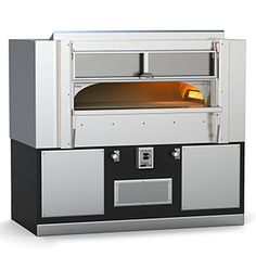 The Fire Deck Oven 8645 makes a great commercial deck oven offered as gas burning or built as wood fired oven or as a combination of both fuels – the perfect sized commercial deck oven for most any restaurant or commercial pizza kitchen. Wood Oven Pizza, Pizza Kitchen, Wood Fired Oven, Wood Fired Pizza, Extra Pizza, Pizza Oven For Sale, Commercial Pizza Oven, Deck Oven, Pizzeria Design