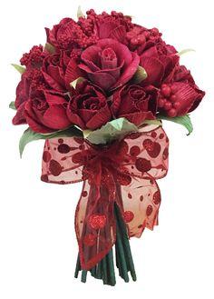 Valentinebouquet with cornhusk flower