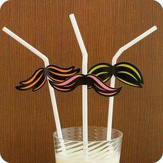 I mustache everyone to use their mustache straws in honor of Cinco de Mayo! ~ Hey Yo Yo on Etsy