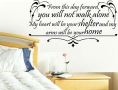 vinyl wall decal quote From this day por WallDecalsAndQuotes