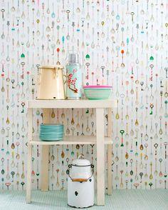 M s de 1000 ideas sobre papel pintado cocina en pinterest - Papeles pintados cocina ...