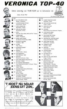 Music Charts, Top 40, Veronica, The Beatles, Dutch, Musicians, Van, Retro, Dutch Language