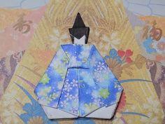 折り紙のおひな様 お内裏様の着物 折り方作り方 - YouTube