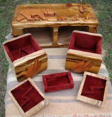 teak wood box wonderful browns inlay trinket desk or