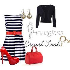 """Hourglass Body Shape: Casual Look"" by christinayleniahendricks on Polyvore"