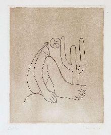 TARSILA do Amaral-Abaporu gravura em metal (água-forte)  1964