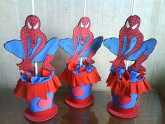 centros de mesa del hombre araña para cumpleaños - Buscar con Google