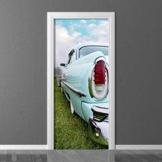 Wallpaper for door Wally Door Wall, Retro Cars, Photograph, Pastel, Room Decor, Doors, Wallpaper, Photography, Cake