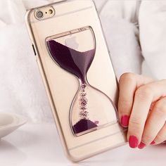 Fashion 3D Liquid Flowing Hourglass Case For Apple iphone 6 6S Colorful Quicksand Clear Transparent Hard Back Cover For Iphone6