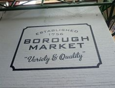Borough Market in London! The fish and chips there are really good!