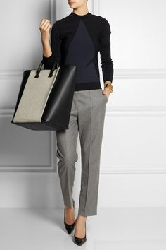 * Never thought about ankle pants being appropriate for work. These look professional.