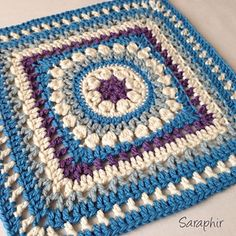 This square was designed as a part of the 'Friends of the world 1015/16 CAL' - created by the Facebook group 'CAL - crochet along'. The CAL consists of 24 squares by different designers and was created to celebrate the 1st Anniversary of the group.