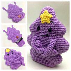 Crochet Case for Nintendo 3DS and XL (including New Nintendo 3DS/XL) - Lumpy Space Princess by ForeverYum on Etsy https://www.etsy.com/listing/218845670/crochet-case-for-nintendo-3ds-and-xl