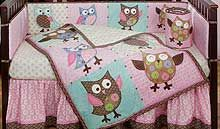 Calico Owls Owl Baby Bedding