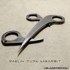 A custom made Marlin Tusk karambit for a good customer. Bladetricks original hand made knives