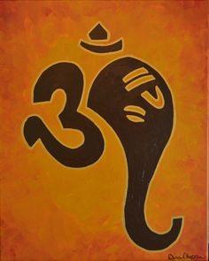 La pintura de Ganesha Hermosa por www.dinachopra.com sería grande  tener el arte  hindú en la casa.