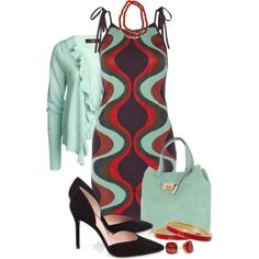 A fashion look from September 2014 featuring M Missoni dresses, Stuart Weitzman pumps y Warehouse tote bags. Browse and shop related looks.