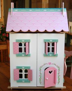 Sweetheart Cottage - This gorgeous house is fully painted and decorated Toy Chest, Kids Toys, Cottage, Children, Painting, House, Home Decor, Childhood Toys, Young Children