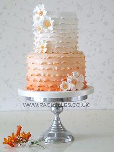 Ombre Wedding Cake | Layered Orange Ombre Wedding Cake