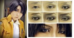 levi ackerman makeup tutorial - Google Search