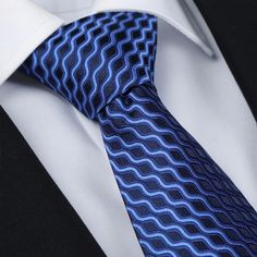 Men Polyester Silk Strip Embellished Business Necktie.      Perfect size to wrap around your shirt collar.     Compact and stylish design will be nice to collocate with your suit and shirt.     Polyester silk material is great for durability and harmless for your skin.     Whether you're going for a laid back look or something more formal, such as wear in a dinner party and wedding, you can find that perfect look.